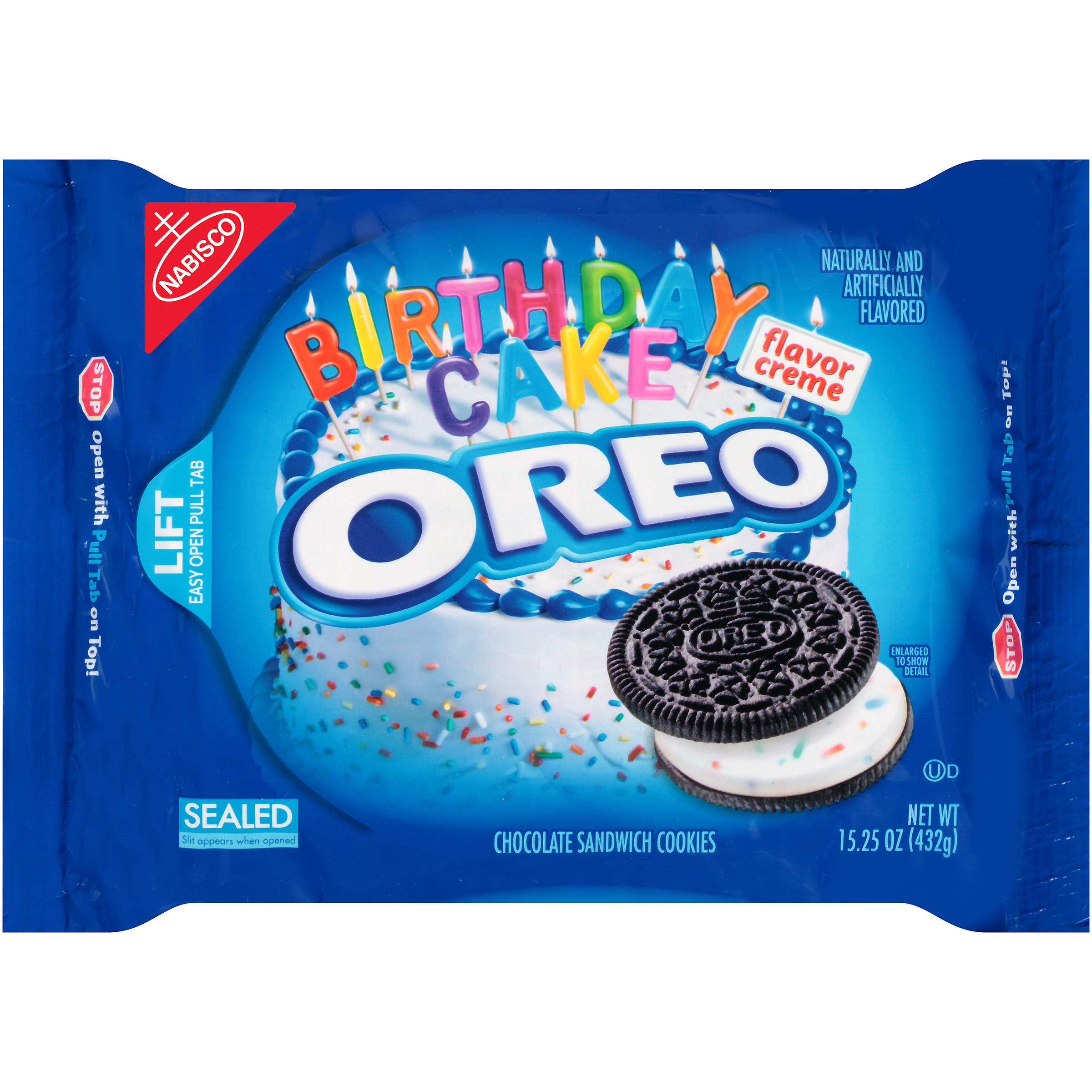 Oreo Birthday Cake Chocolate Sandwich Cookies 1525 OZ Walmartcom