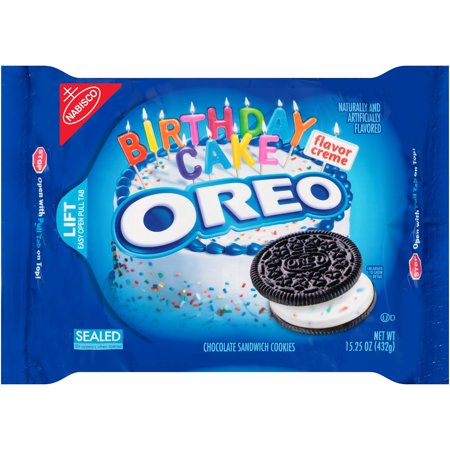 Oreo Birthday Cake Chocolate Sandwich Cookies 15 25 Oz