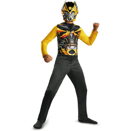 Transformers Movie 4 Bumblebee Basic Child Halloween Costume, One Size - S (4-6) - Bumblebee Costume Transforms Into Car
