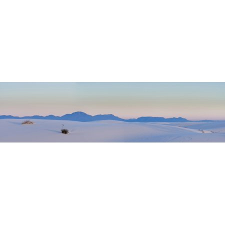 Gypsum Dunes At First Light Of Morning White Sands National Monument New Mexico Usa Canvas Art   Panoramic Images  27 X 9