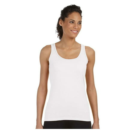 Gildan Women's Rib Knit Preshrunk Fit Softstyle Tank Top, Style G64200L - Metallic Knit Tank