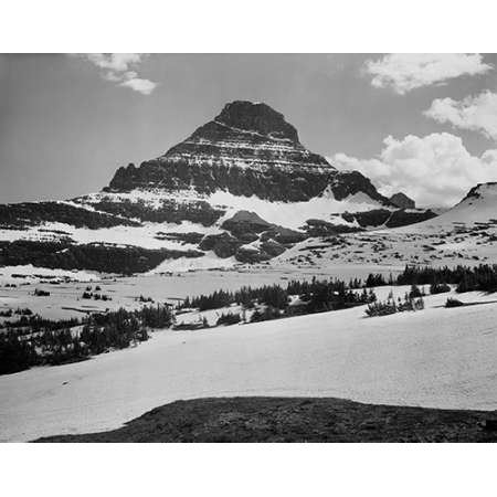 View from Logan Pass Glacier National Park Montana - National Parks and Monuments 1941 Poster Print by Ansel