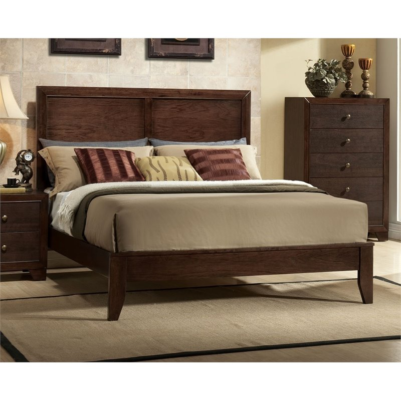Bowery Hill Queen Panel Bed in Espresso