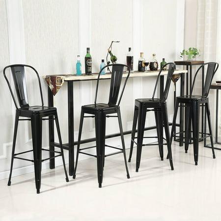 Belleze Set Of 4 Modern Industrial 30 Quot Inch Bar Height