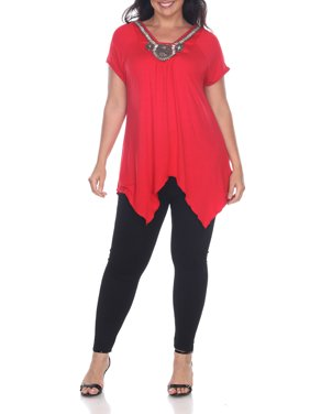 f8bfe883059 Product Image Women s Plus Size Embellished Short Sleeve Tunic Top