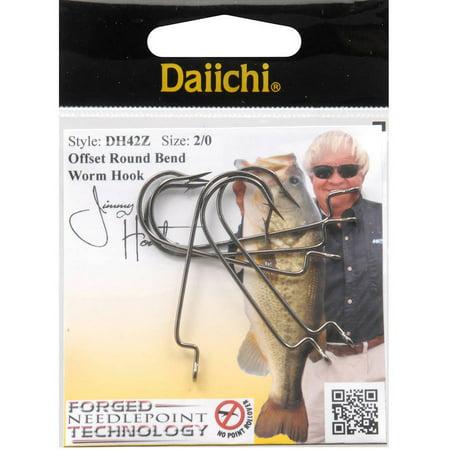 Daiichi D42Z Offset, Wide Gap Worm Hook, Black Nickel Daiichi Offset Worm Hook