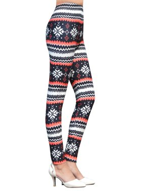 f320f55392f063 Product Image Women's SnowflakePrint Footless Ankle Length Leggings