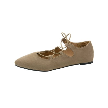 Alpine Swiss Elena Womens Pointed Toe Ballet Flats Strappy Slip-On Flat (Nine West Onlee Pointed Toe Ballet Flats)