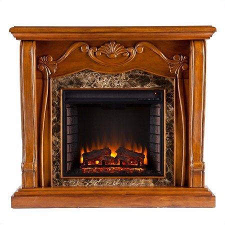 Southern Enterprises Cardona Electric Fireplace in Walnut - image 2 de 13