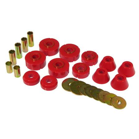Prothane Body Mount Bushing (Prothane 67-72 Chevy C10 Body Mount Kit - Red)
