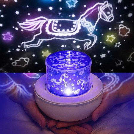Night Light for Kids, Baby Light Projector with Music , 6 Theme Colorful Projector for Girls Boys - image 5 of 8