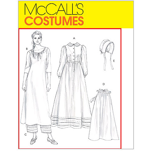 McCall's Misses' Early American Costume, CCD (10, 12, 14, 16)