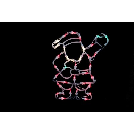 """13"""" Lighted Santa Christmas Double Sided Window Silhouette Decoration - image 1 of 1"""