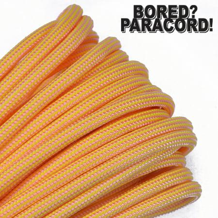 Bored Paracord Brand 550 lb Type III Paracord - Lemonade 10 Feet (Lemonade Store)