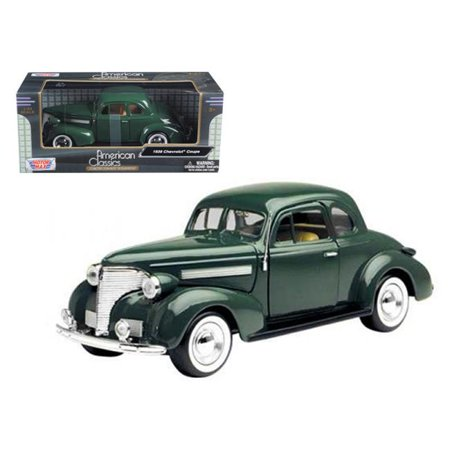 1939 Ford Coupe - 1 by 24 1939 Chevrolet Coupe Diecast Model Car - Green