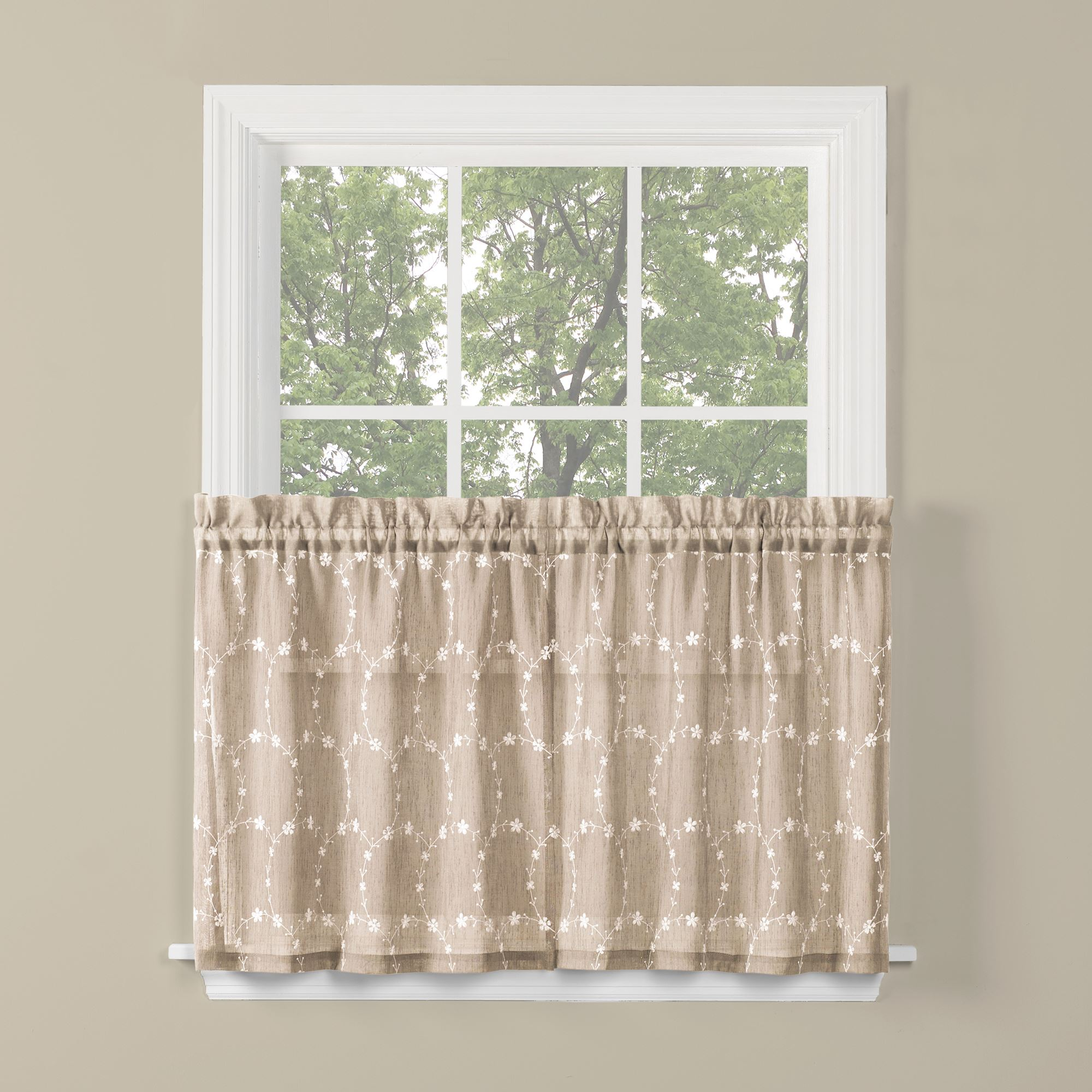 Saturday Knight Ltd Briarwood Collection High Quality Stylish Delicate & Filmy Window Tiers & Valance