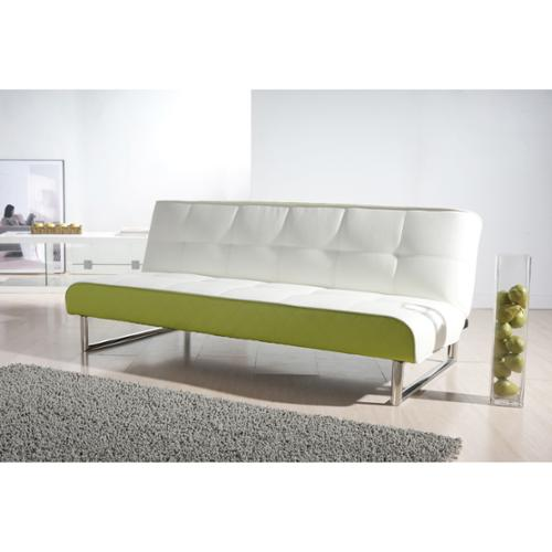 Gold Sparrow Seattle White And Green Futon Sofa Bed