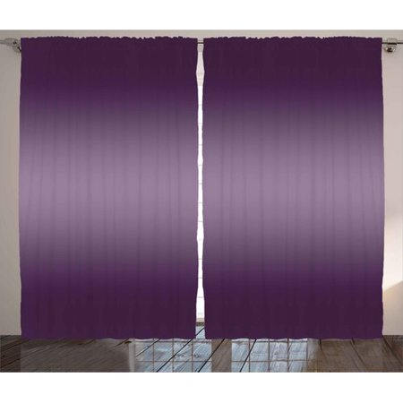 Latitude Run Damato Ombre Hollywood Theater Inspired Purple Colored Modern Design Room Decorations Graphic Print & Text Semi-Sheer Rod Pocket Curtain Panels (Set of 2) - Modern Auto Sales Hollywood