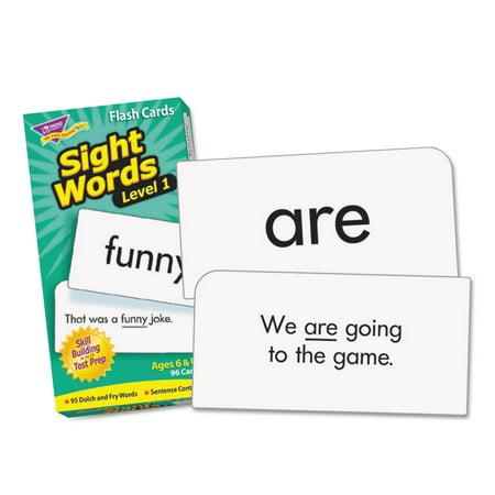 TREND Skill Drill Flash Cards, 3 x 6, Sight Words Set 1