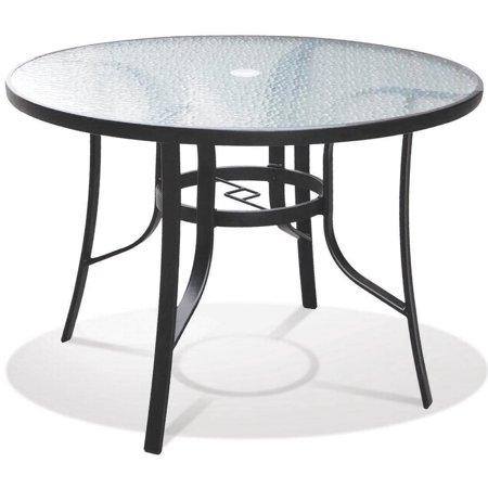 Image of Living Accents Belvedere Dining Table 42 in W X 29 in D X 42 in H, Round, Glass