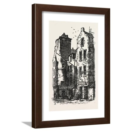 The British Association at Dundee: Old Houses, Fish Street, UK, 1867 Framed  Print Wall Art