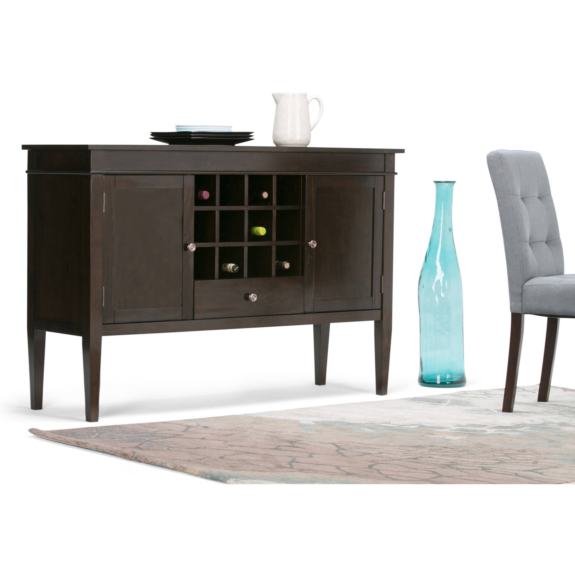Carlton Sideboard Buffet & Wine Rack by CCT Global Sourcing Inc
