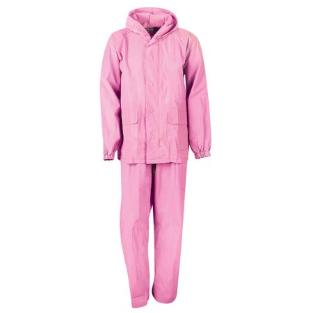 MOSSI YOUTH ADVENTURE RAINSUIT PINK - MEDIUM