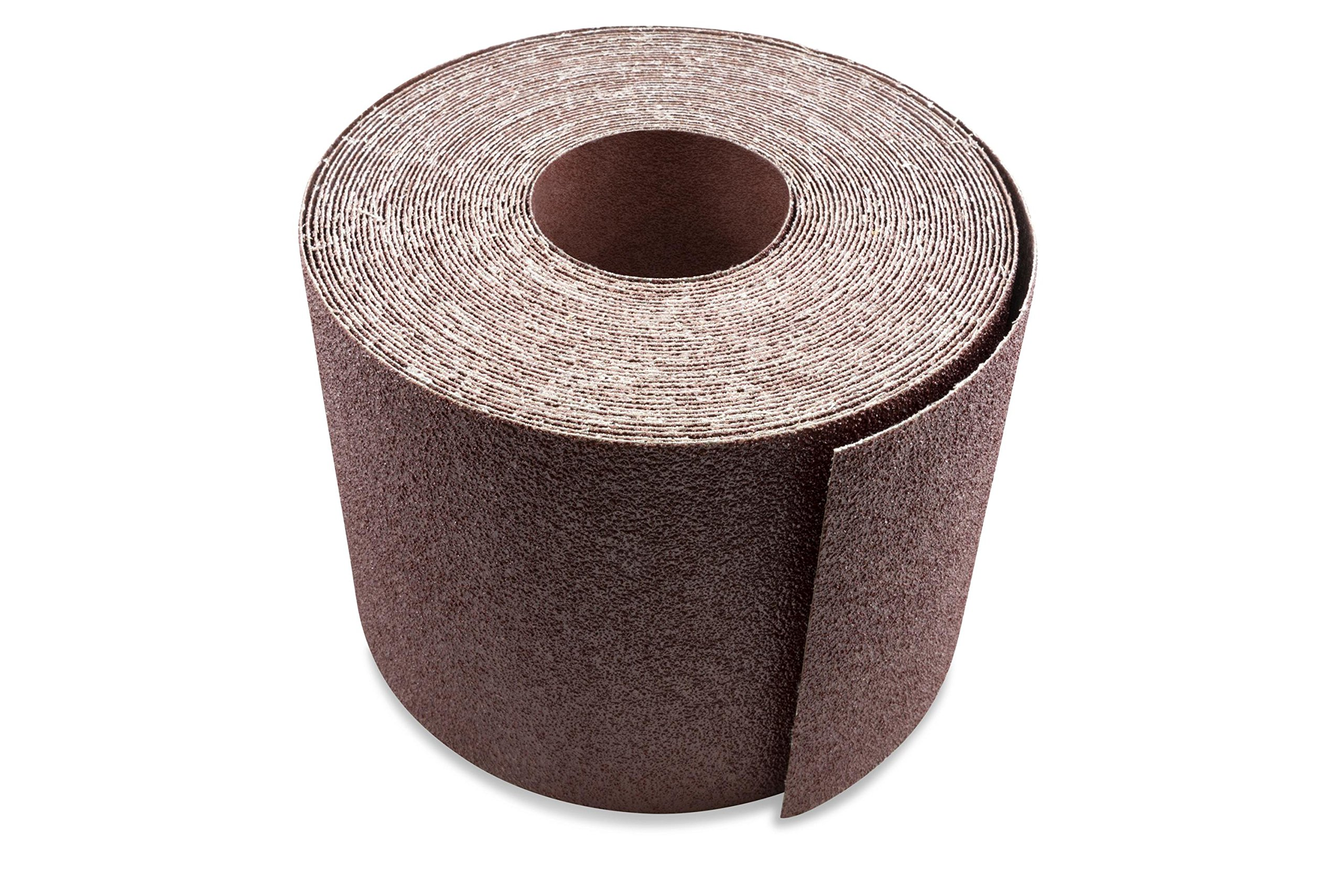 6 Inch X 50 FT Aluminum Oxide Ready-to-Cut Cloth Sanding Roll for Drum Sanders by Red Label Abrasives
