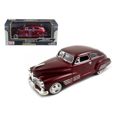 Motormax 73266r 1948 Chevy Aerosedan Fleetline Metallic Model Car, Dark - 1948 Chevy Car