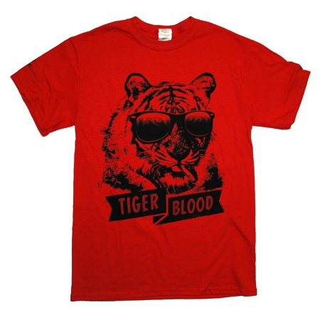 Charlie Sheen Tiger Blood Funny Famous Celebrity T-Shirt Tee (Charlie Top Gun)