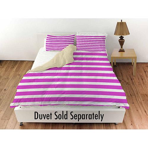 "Thumbprintz Bright Stripes Pink Standard Sham, 30"" x 22"""