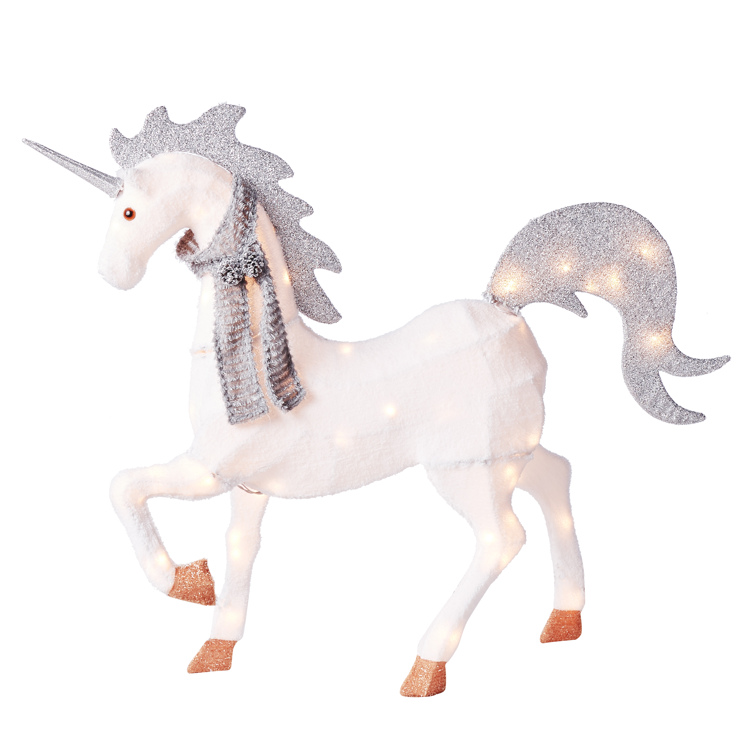 Holiday Time Chenille Unicorn, 52""