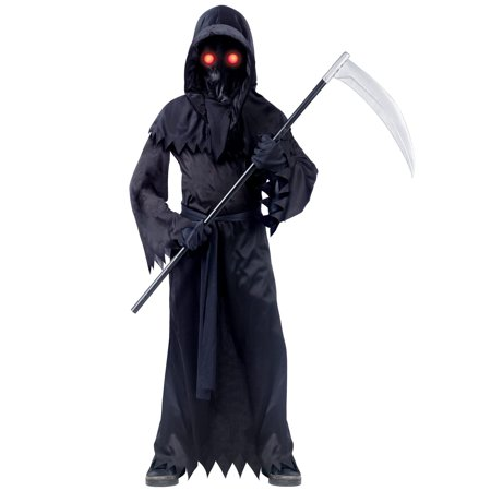 Fade In And Out Unknown Phantom Grim Reaper Kids Costume | Fun World](Female Grim Reaper Costume)