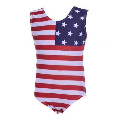 aa8fdf604 Nicesee - Nicesee Girls Kids 2-10Y Us Flag Ballet Dancewear ...
