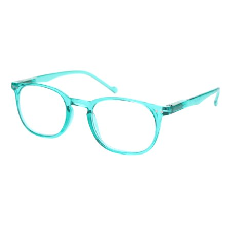Thin Plastic Keyhole Rectangle Hipster Design Reading Glasses Teal (Are Hipster Glasses Still Cool)
