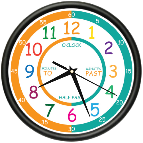EASY TO READ TEACHER Wall Clock elementary students school kids room gift
