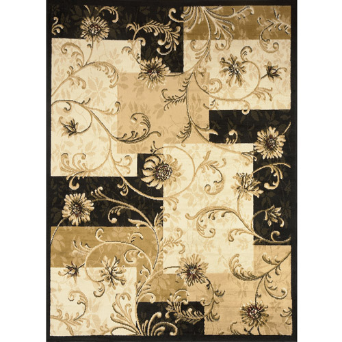 Optimum Woven Polypropylene Transitional Runner Rug, Black
