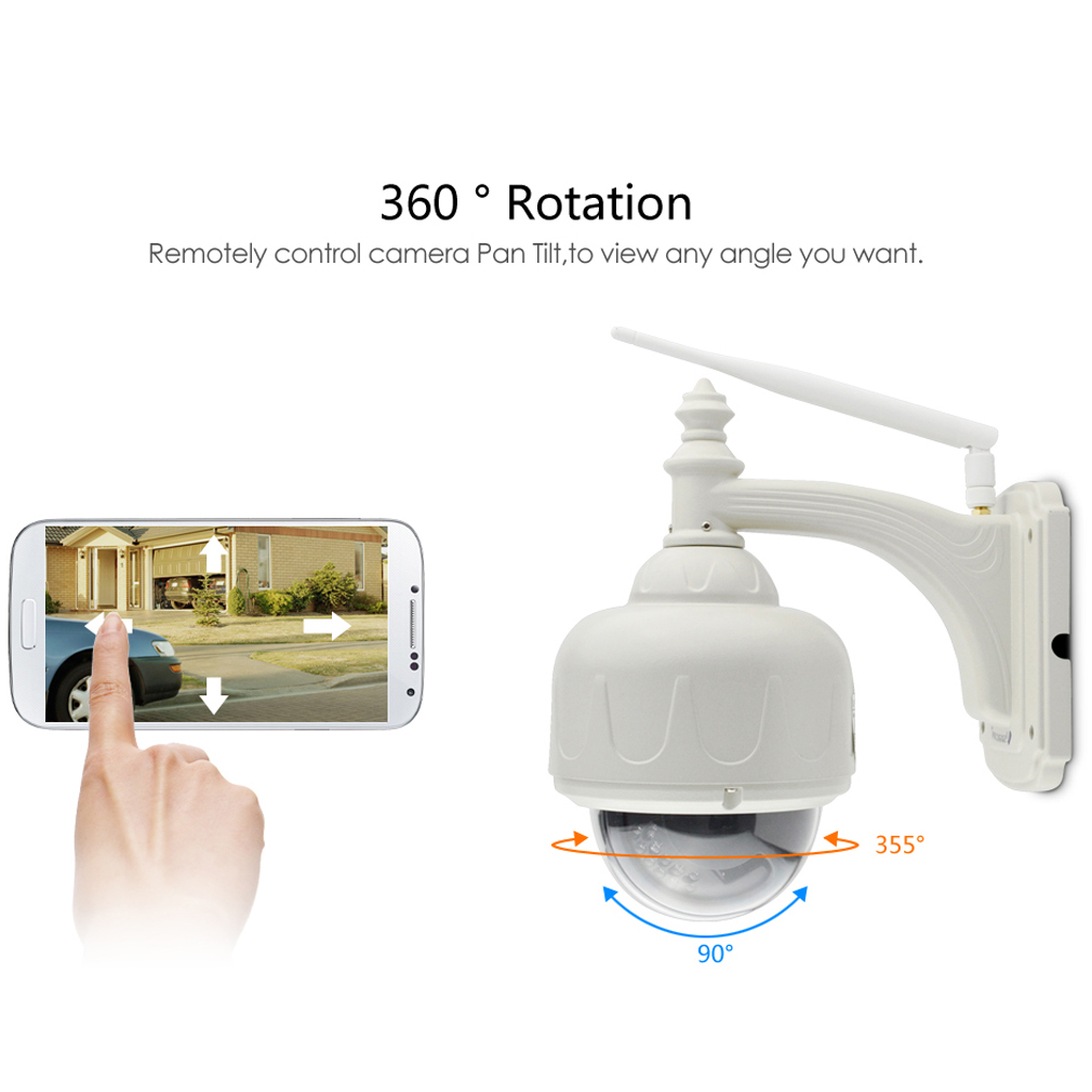 IP Camera Outdoor HD 720P With Zoom And IR Cut Security Camera C33-X4