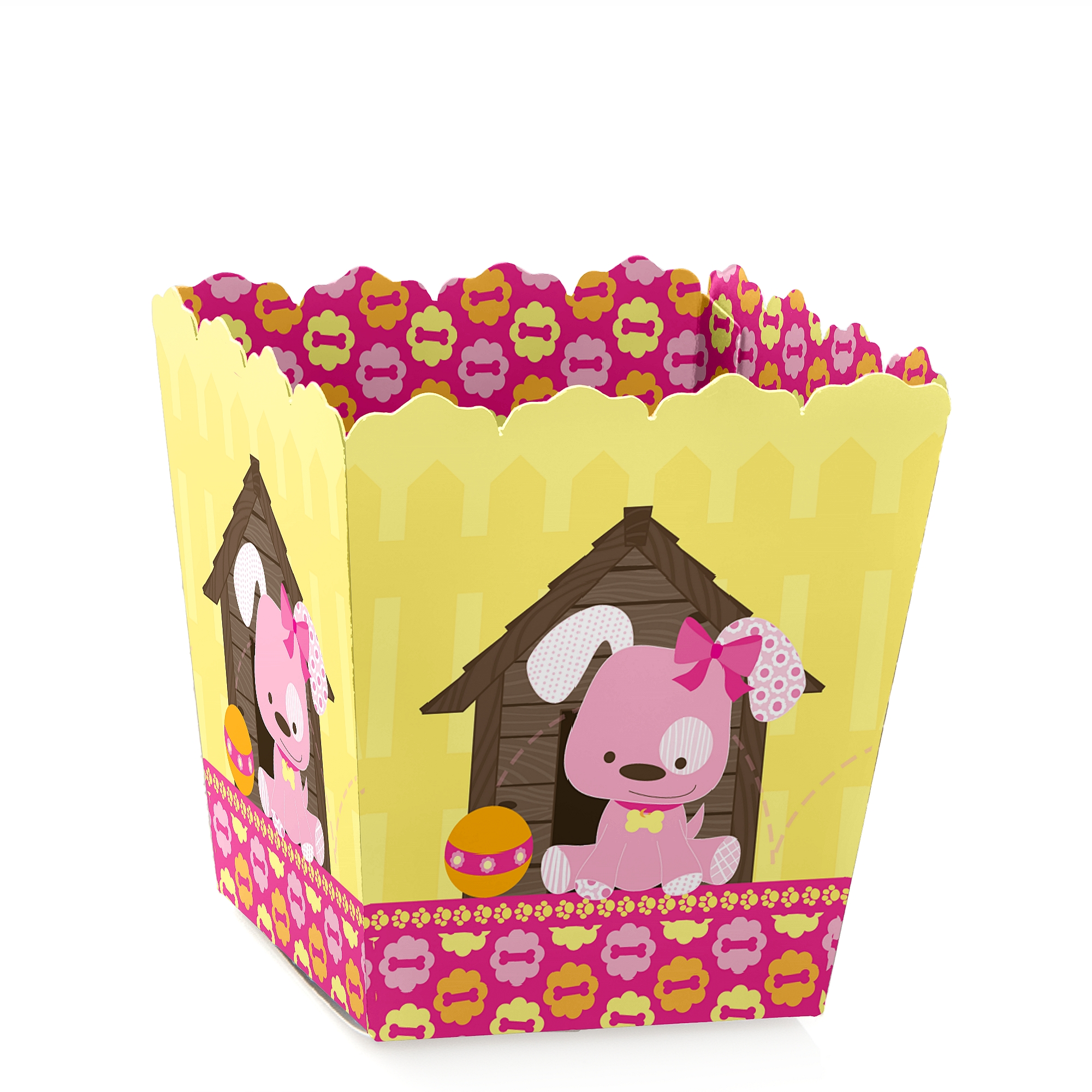 Girl Puppy Dog - Party Mini Favor Boxes - Dog Party or Birthday Party Treat Candy Boxes - Set of 12