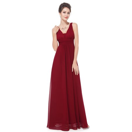 90e14b54f95 Ever-Pretty - Ever-Pretty Women s Elegant A Line Ruched Waist Evening Prom  Party Bridesmaid Wedding Guest Maxi Dresses for Women 08110 (Burgundy 12  US) ...