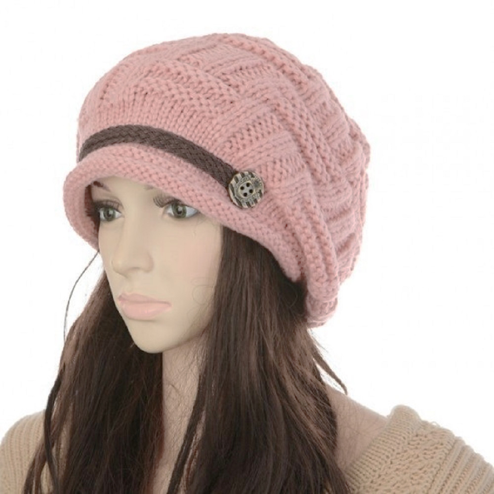 Soft Warm Wool Hat Cap Winter Fleeced Inside Thick Ear Flaps Women Fashion by Womens Wool Coats