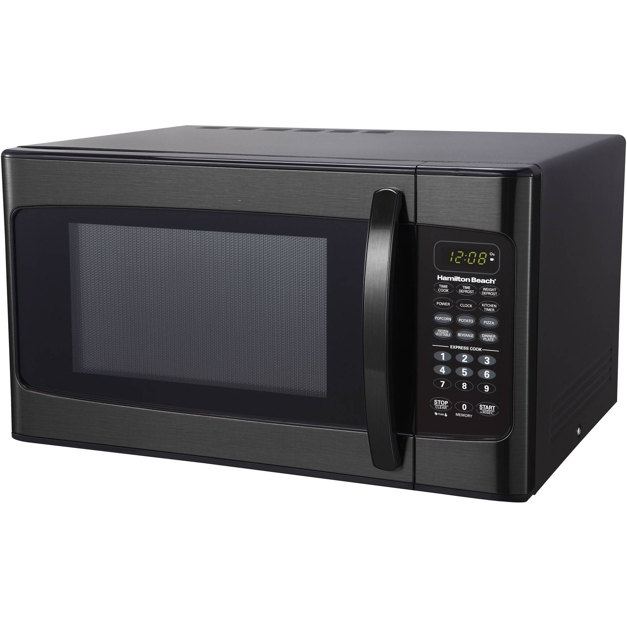 Hamilton Beach 1.1 Cu. Ft. 1000 Watt Black & Stainless Steel Microwave Oven, 1 Each