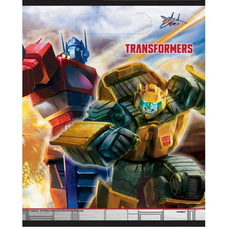 Plastic Transformers Goodie Bags, 9 x 7 in, - Transformers Birthday Party Ideas