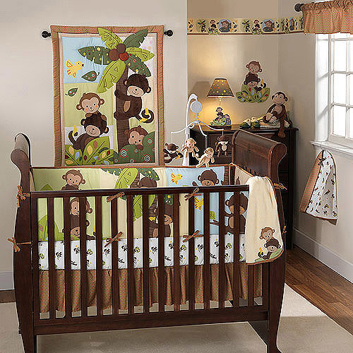 Bedtime Originals by Lambs & Ivy - Curly Tails 3pc Crib Bedding Collection Value Bundle