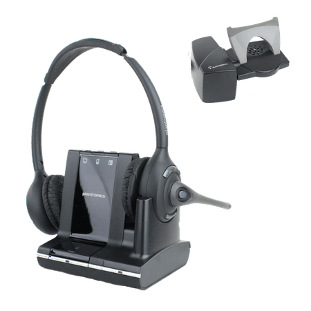 Plantronics Savi W720 double ear wireless headset with HL10 handset lifter accessory. Connects to desk phone, PC and Bluetooth.(certified refurbished)