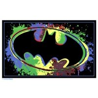 Black Light - Batman Logo Poster Poster Print