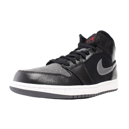 70692a371137 NIKE AIR JORDAN 1 MID PREMIUM SZ 13 WOOL WINTERIZED BLACK RED GREY 852542  001 - Walmart.com