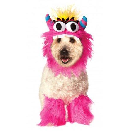 Little Pink Fluffy Monster Sully Pet Dog Cat Halloween Costume