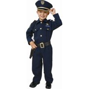 Deluxe Policeman Police Officer Halloween Costume Child T-2