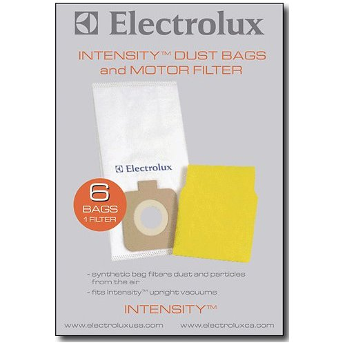 electrolux intensity vacuum. electrolux homecare products replacement bags and filter for electrolux intensity, 6-pack intensity vacuum